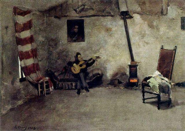 Interior del taller ram n casas i carb barcelone et ses peintres pinterest barcelona - Casa luthier barcelona ...