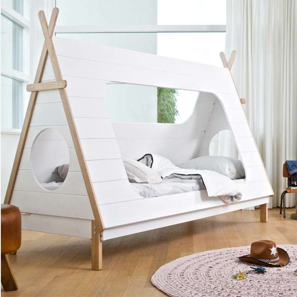 kinderbett tipi indianerzelt wigwam zelt bett jugendbett. Black Bedroom Furniture Sets. Home Design Ideas