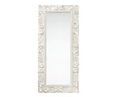 Specchio da parete in pasta di legno Alysa, 187x84x8 cm