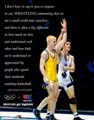 John Irving Quote   wrestling   Wrestling quotes, Wrestling ...