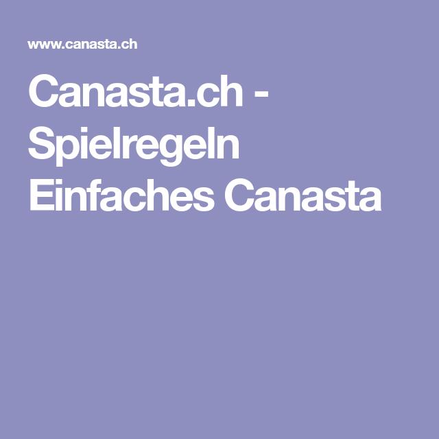 Spielregeln Canasta