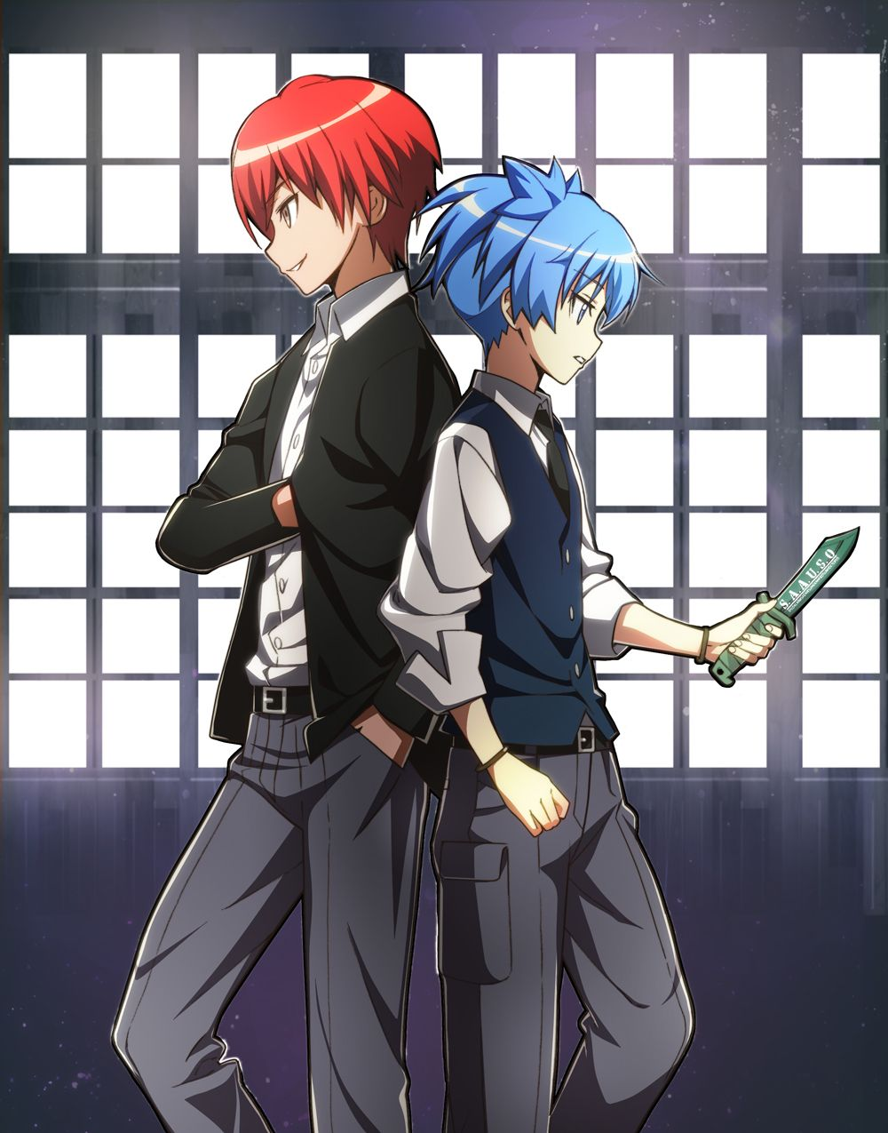 Assassination Classroom. Two of my fav characters. The