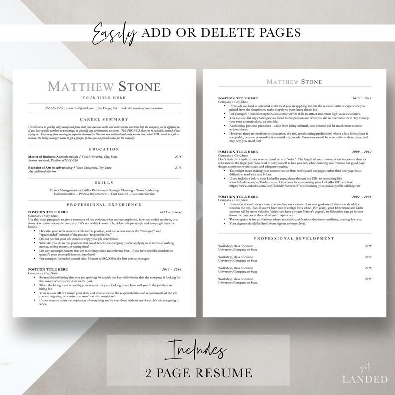 Ats Friendly Resume Template Minimalist Resume Template For Etsy In 2020 Resume Template Word Resume Template Resume Template Professional Deleting unnecessary rows from your google docs resume. pinterest