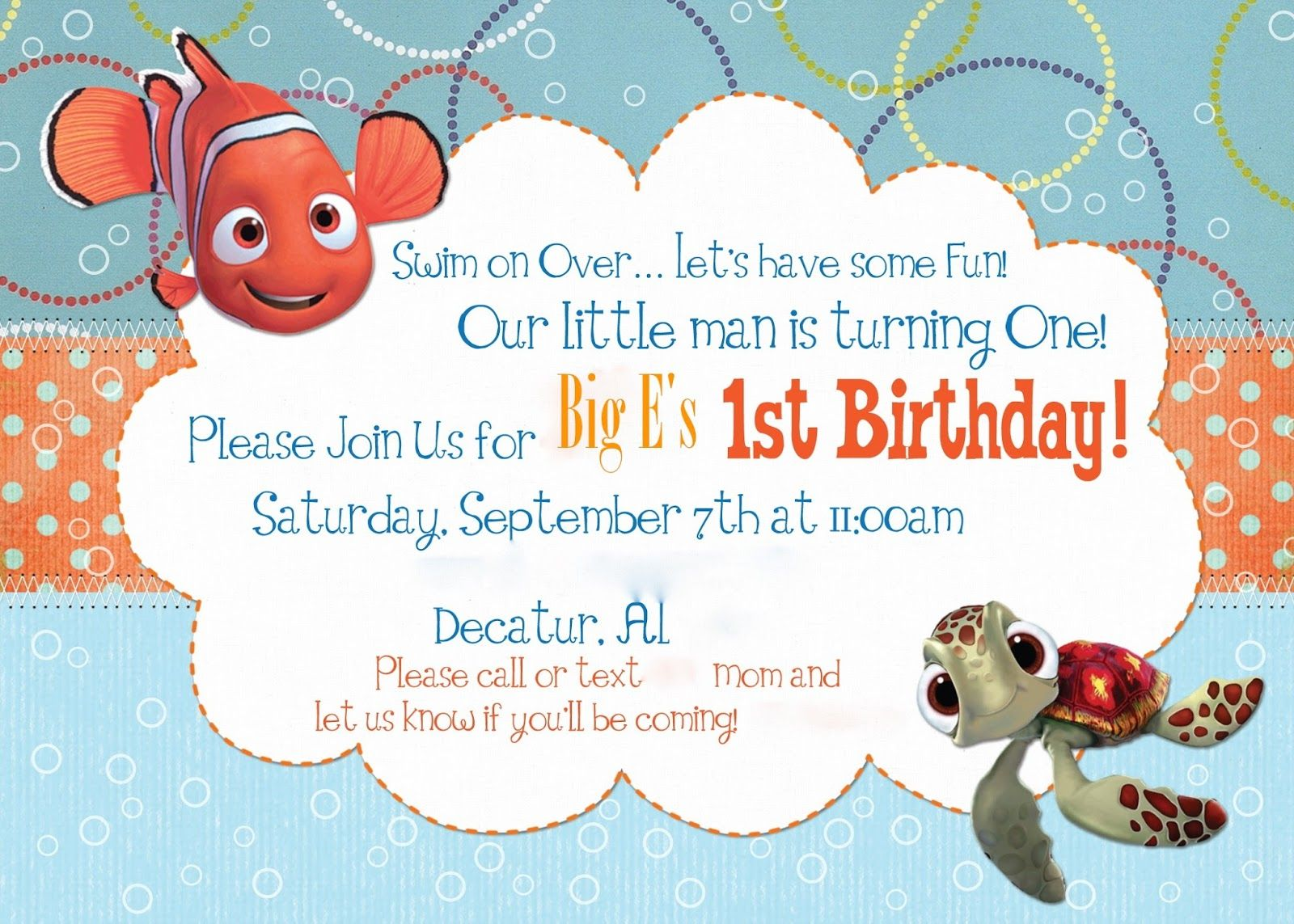 A Disney Mom\'s Thoughts: Finding Nemo First Birthday Party Etsy ...