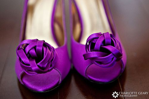 Sexy purple wedding shoes... because you are tying the knot
