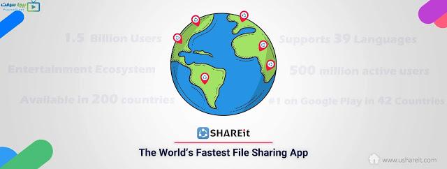 تحميل برنامج شير ات للكمبيوتر Download Shareit Language Pie Chart