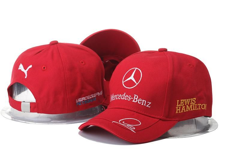 Mens   Womens Unisex Mercedes Benz x Puma AMG PETRONAS F1 LEWIS HAMILTON  Baseball Adjustable CAP - Red   White c239e902fa6