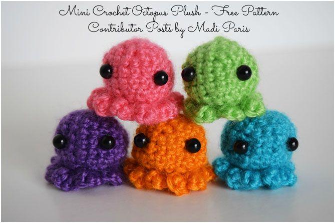 Mini Crochet Octopus Plush - Free Pattern