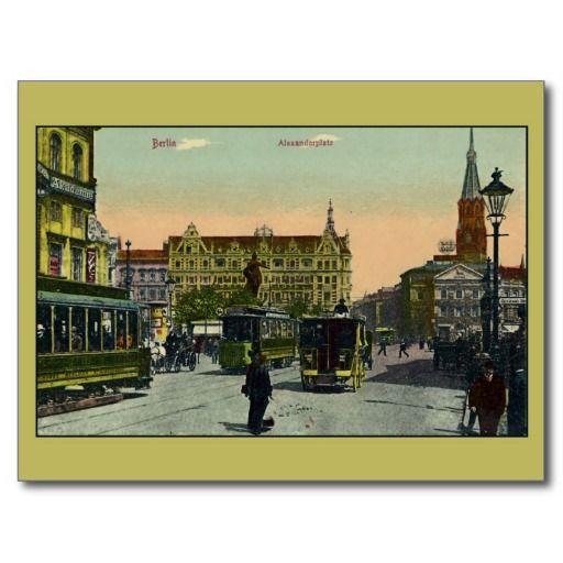 Vintage Berlin Alexanderplatz Postcard Zazzle Com Postcard Antique Postcard Grand Hotel