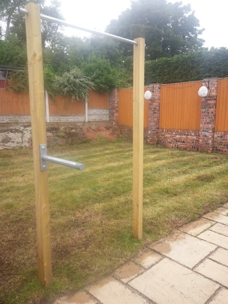 Chin up station diy outdoor chin up dip bar wirral for Homemade pull up bar plans