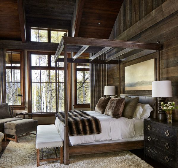 bedroom fantastic modern rustic cabin interiors of contemporary ...