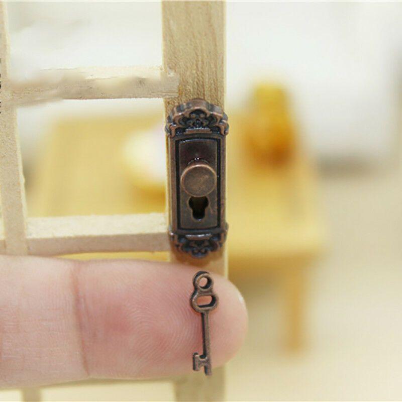 2Pcs Dollhouse Mini Door For 1:12 Miniature Accessory Home Decoration DIY