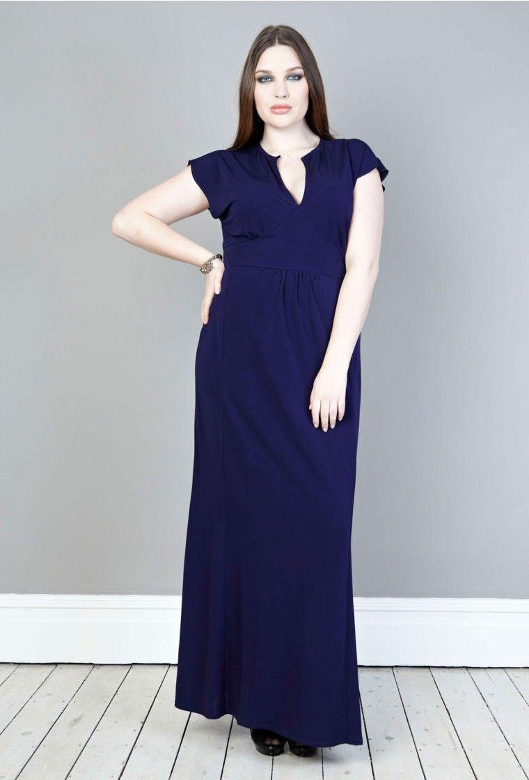 af189cda43 Crepe Maxi Dress - Plus Size Clothing After 5 Dresses
