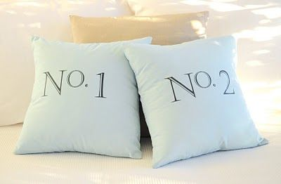 Typographic Cushions | The Painted Hive