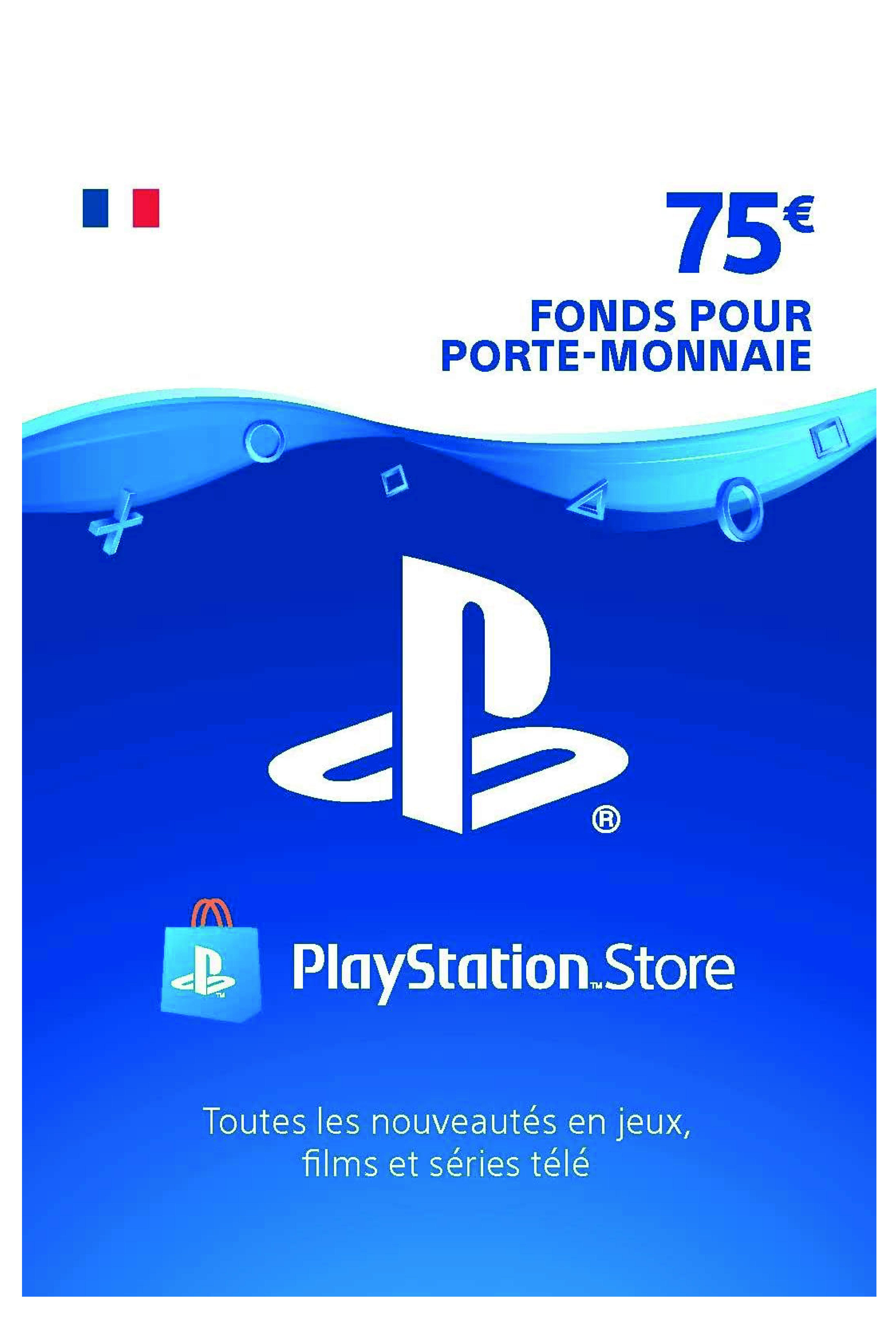 Carte Psn 75 Eur Compte Francais Code Psn A Telecharger De Sony Plate Forme Playstation 4 Et 3 En 2020 Playstation Telechargement France