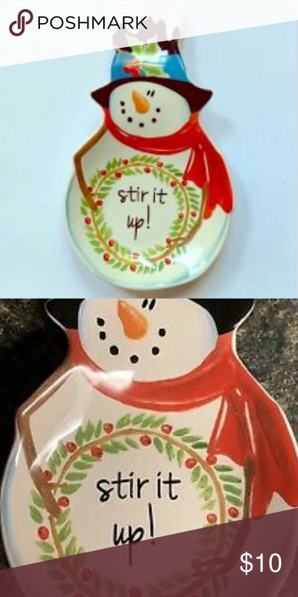Cracker Barrel Pottery Winter Snowman Spoon Rest In 2020 Cracker Barrel Pottery Barrel