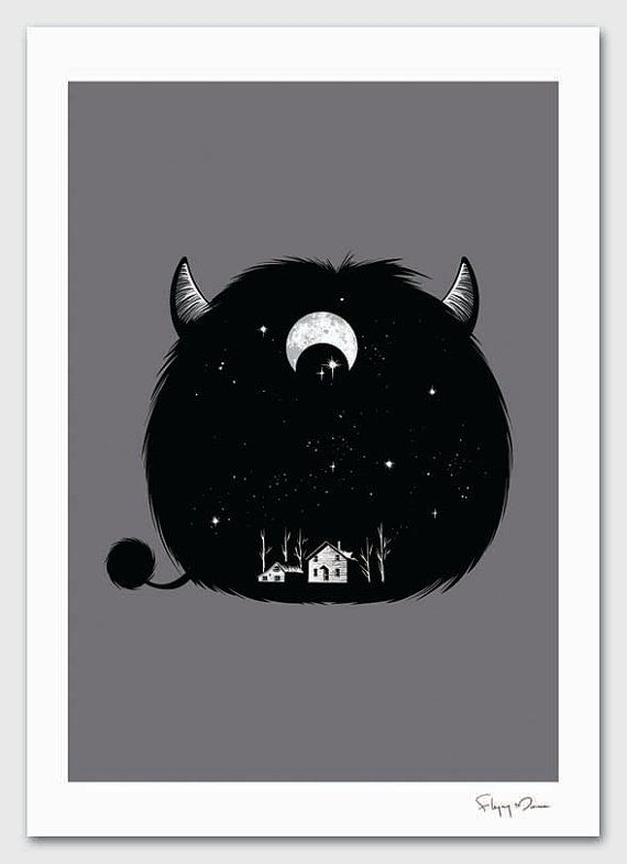 Swallowed by Darkness by flyingmouse365 on Etsy, $30.00