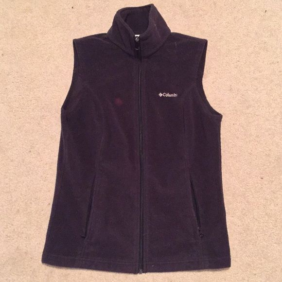 Columbia vest. Cotton Columbia vest. Has a small circle bleach spot on the left side but is hardly noticeable. (Not sure how it got there). Other than that, still in good condition. Jackets & Coats Vests