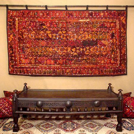Add Loops To The Fabric Rug Table Cloth Etc And Hang On A Rod Fabric Wall Hanging Fabric Wall Art Tapestry Wall Hanging