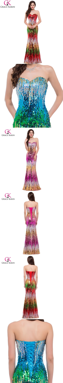 Mermaid evening dress grace karin new arrival luxury sequins