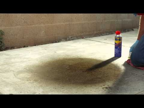 Removing Oil Stains From Driveways With Wd 40 Brilliant