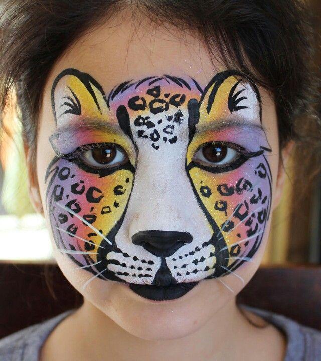 Pin By Kristy Ruiz Stevens On Facepaint Cheetah Face Paint Face Painting Designs Face Painting