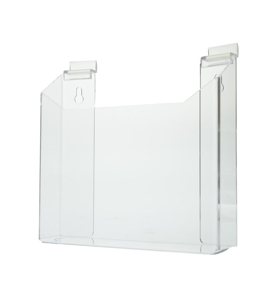 Wall Mount For 8 5 X 11 Literature Holder Magazine Display Marketingholders Magazine Display Wall Slat Wall Magazine Display