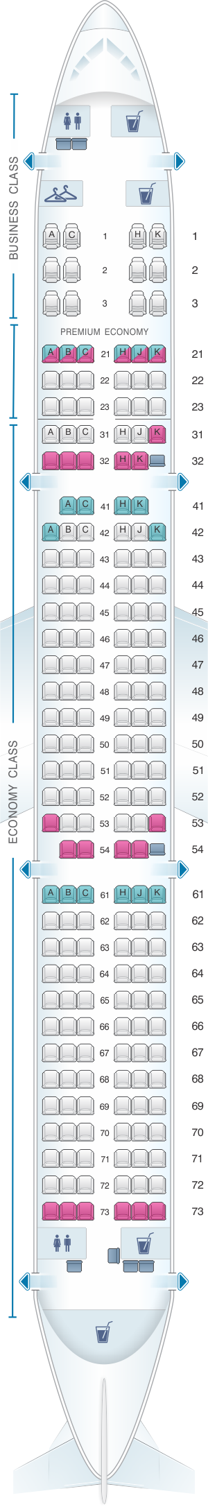 Seat Map Philippine Airlines Airbus A321 200 Philippine