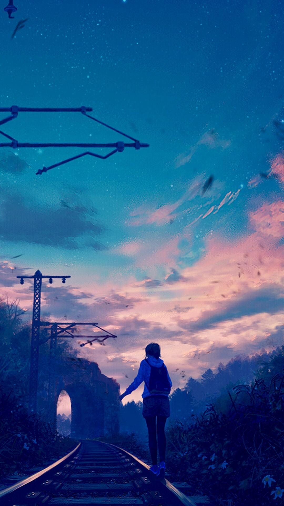 Japan Cityscape iPhone wallpaper Anime fond d'écran iphone