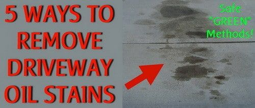 5 ways to remove oil stains from a driveway cleaning for Garage sprint auto stains