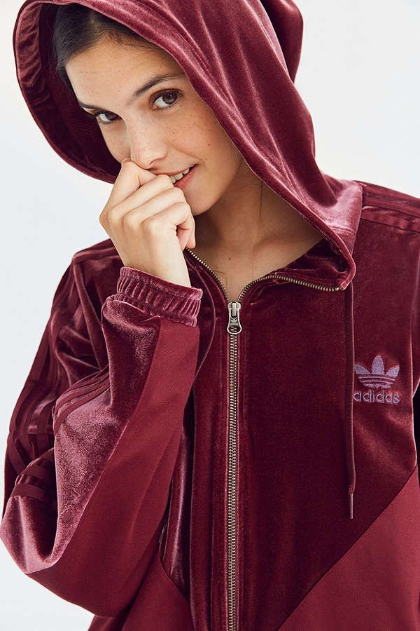adidas Originals Velvet Hoodie Track Jacket