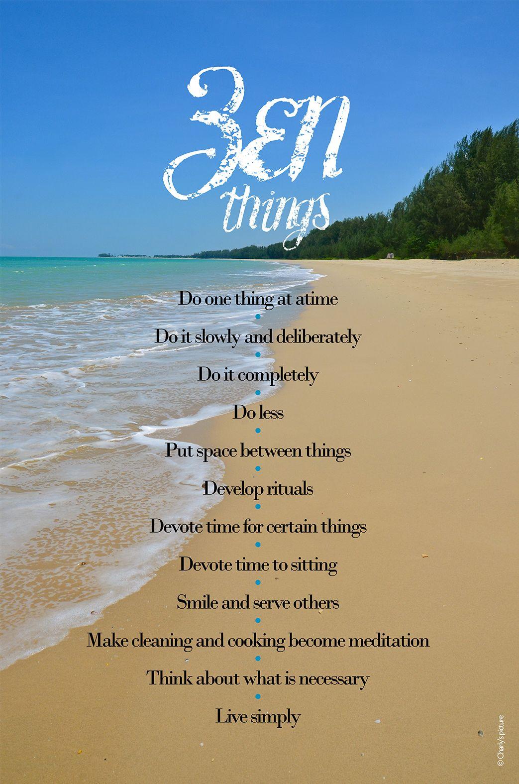 Inspirational zen quotes, a lovely beach in Phuket ...