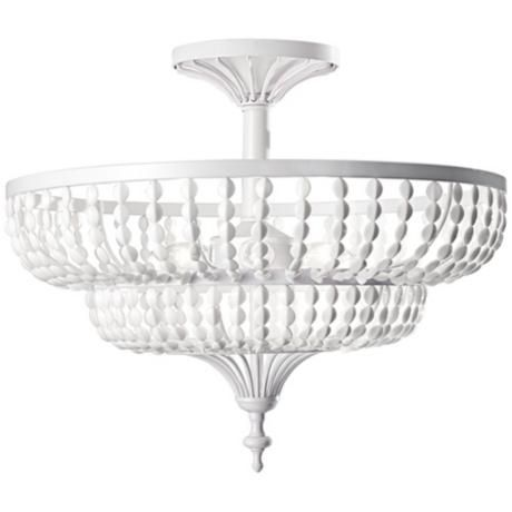 Murray feiss beaded ceiling light