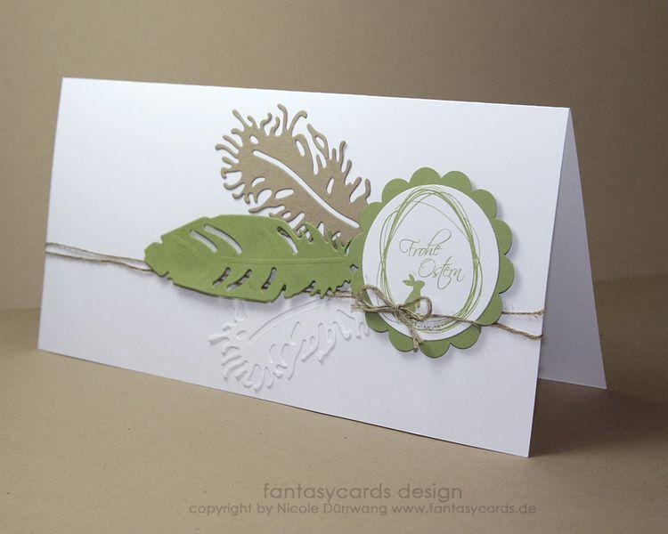 osterkarte mit federn von fantasycards design sch nes aus papier auf karten. Black Bedroom Furniture Sets. Home Design Ideas
