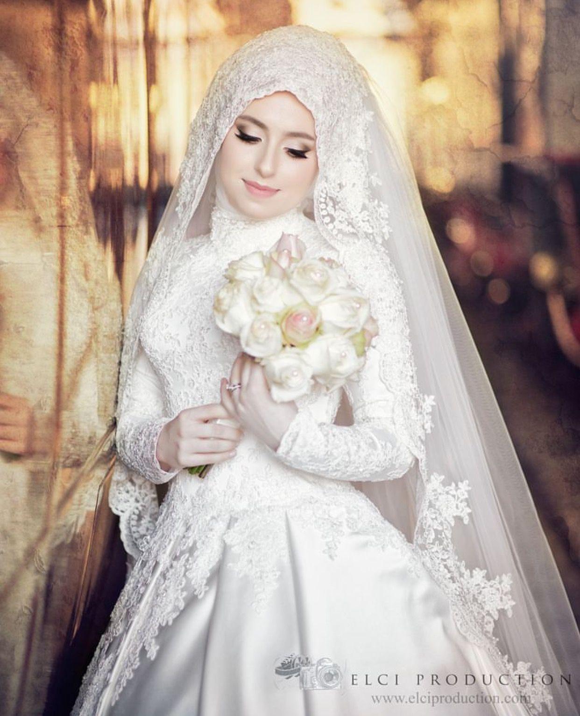Pin by Lunicornn on Bridal Hijabis | Pinterest | Muslim, Wedding ...