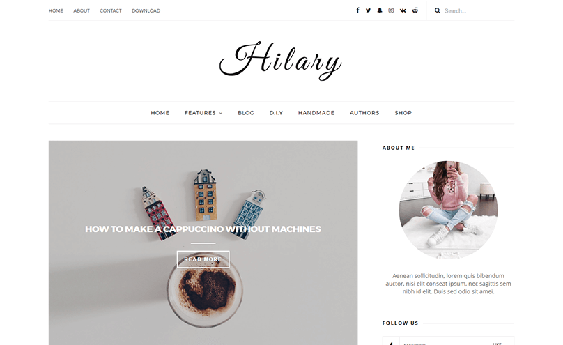 Hilary is a Clean Responsive Elegant Blogger Template. It is easy to ...