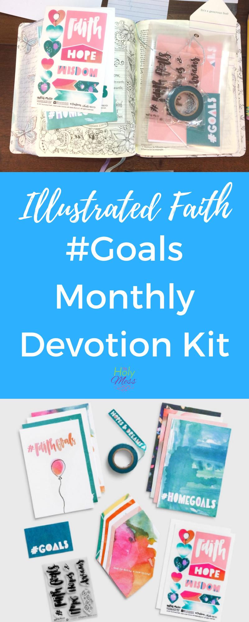Illustrated Faith #Goals Monthly Devotion Kit