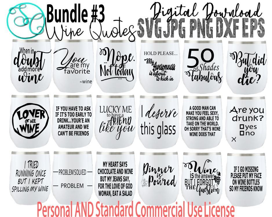 Bundle Wine Svg Wine Svg Wine Sayings Svg Wine Glass Svg Etsy Wine Glass Sayings Wine Glass Quotes Funny Wine Quotes Check out our svg tumbler sayings selection for the very best in unique or custom, handmade pieces from our digital shops. bundle wine svg wine svg wine sayings