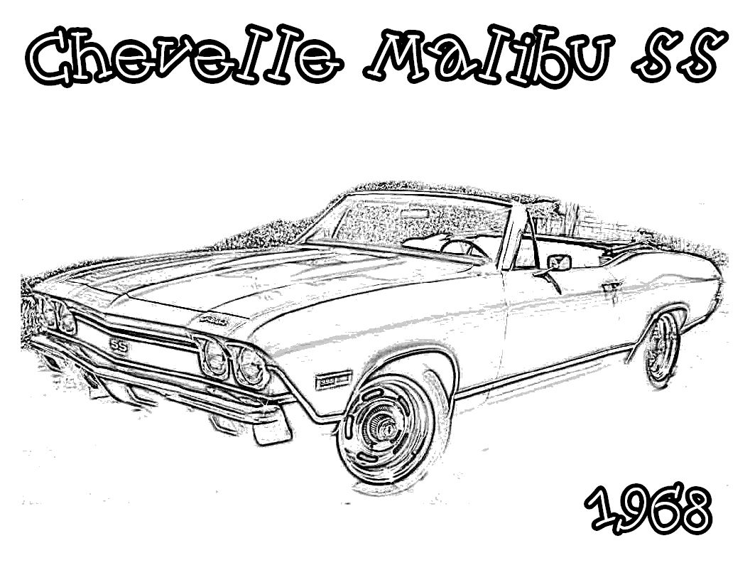 Old Cars Coloring Pages