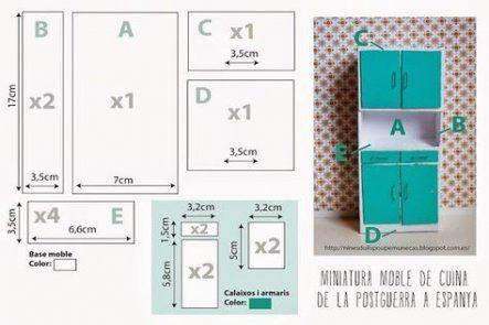 Diy kitchen cabinets plans tutorials 65 Ideas #dollhouseminiaturetutorials