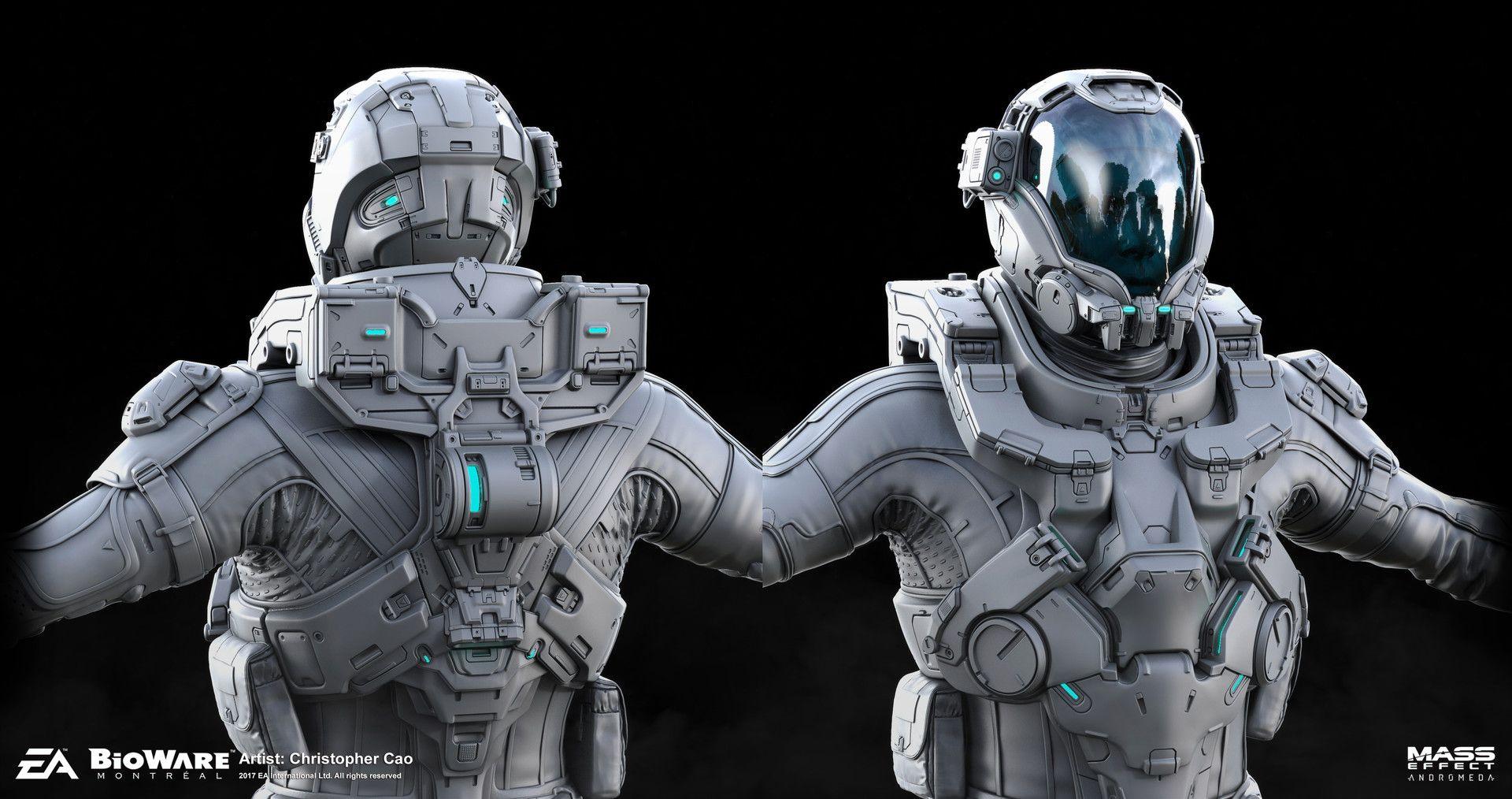 artstation mass effect andromeda deepspace armor set highres