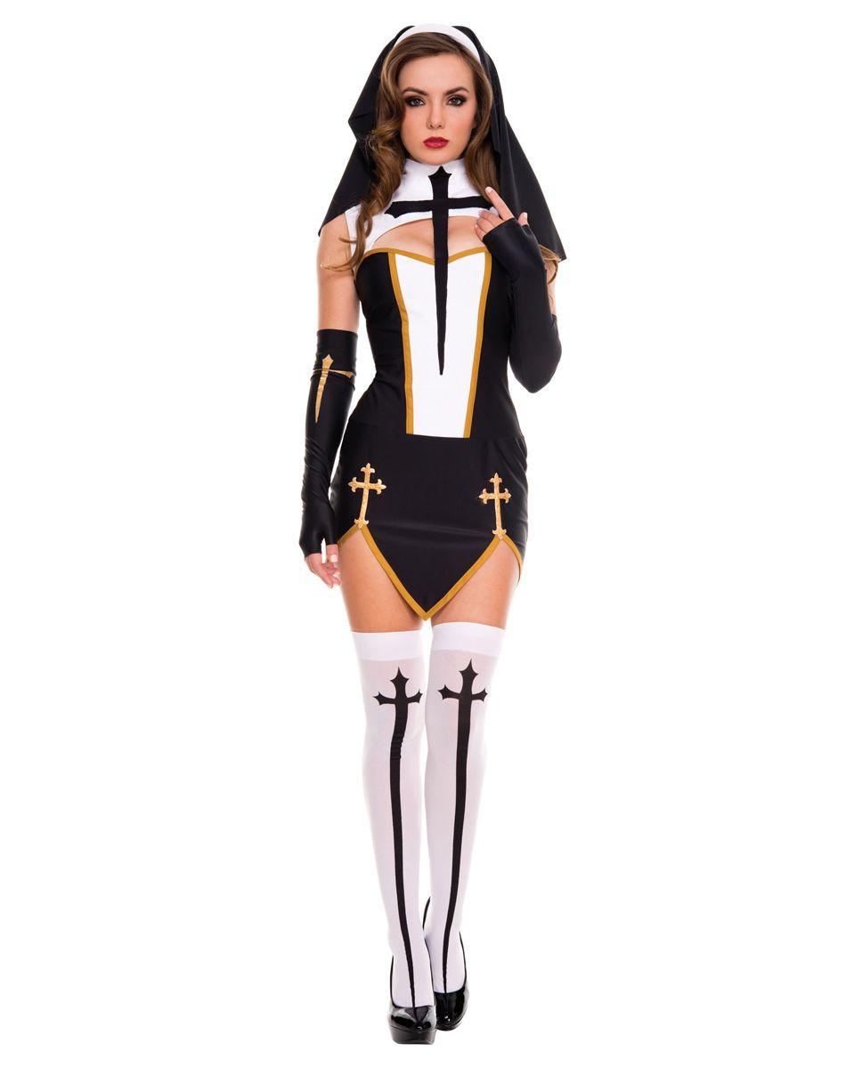 Bad Habit Nun Adult Womens Costume \u2013 Spirit Halloween