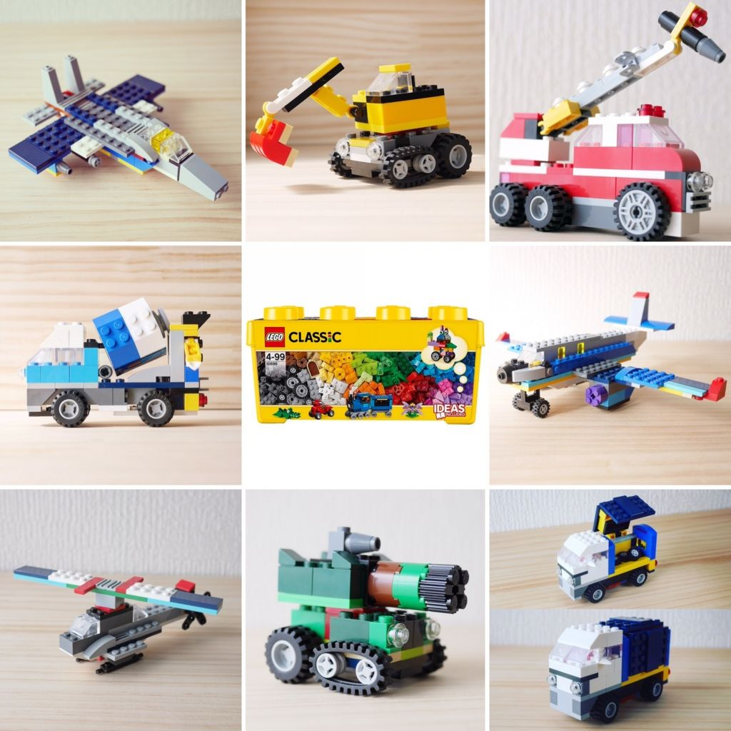 You Can Build Them Only Using Lego Classic 10696 And My Turtorial Please Check My Instagram Profile レゴ10696や10698 Lego Challenge Classic Lego Lego Activities