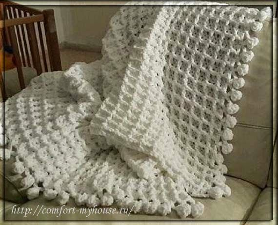 Delicadezas en crochet Gabriela: Patrón de panal de ganchillo manta ...