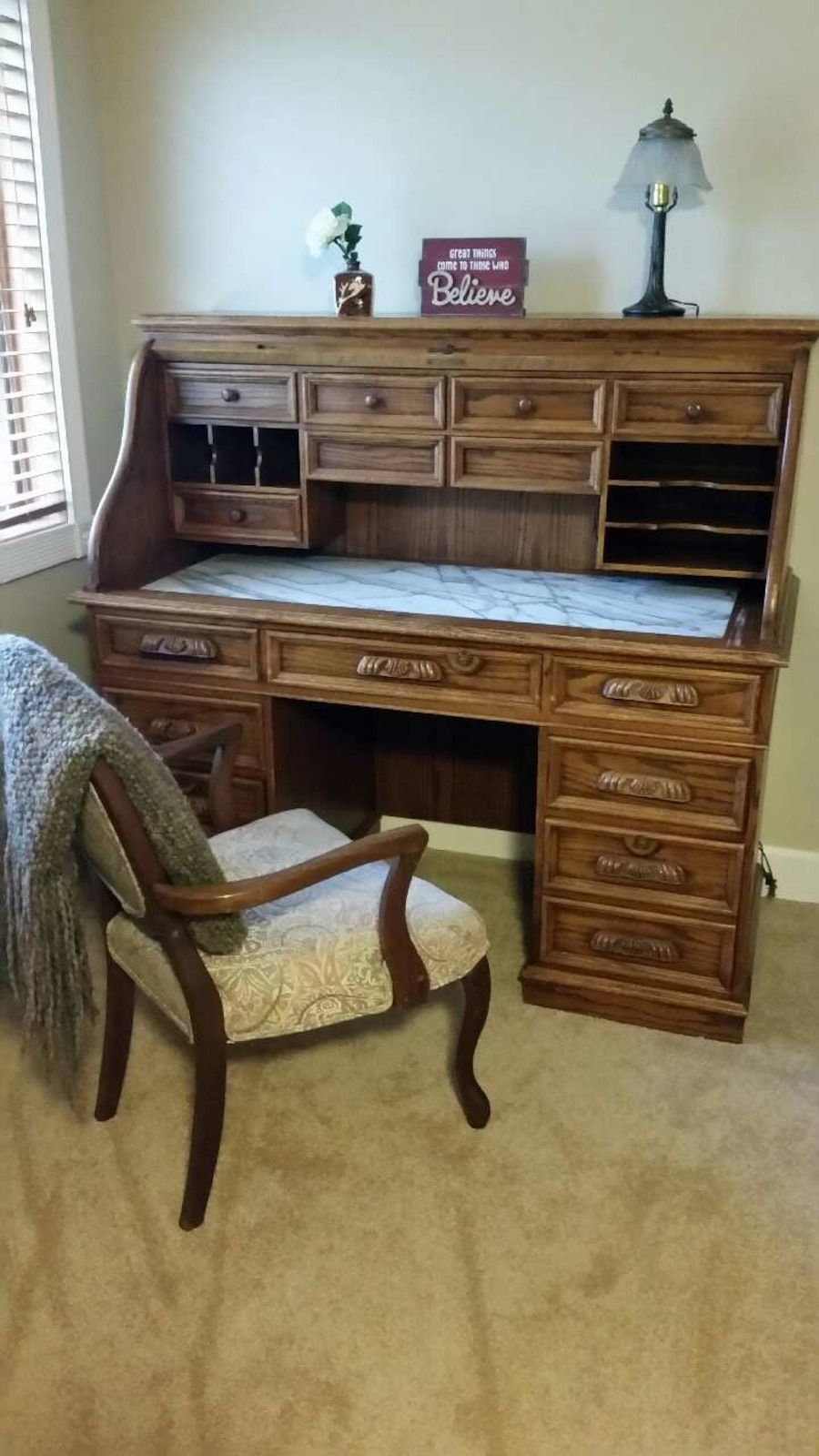 Used Roll Top Desk For Sale In Lemont Letgo Sales Desk Desk Roll Top Desk