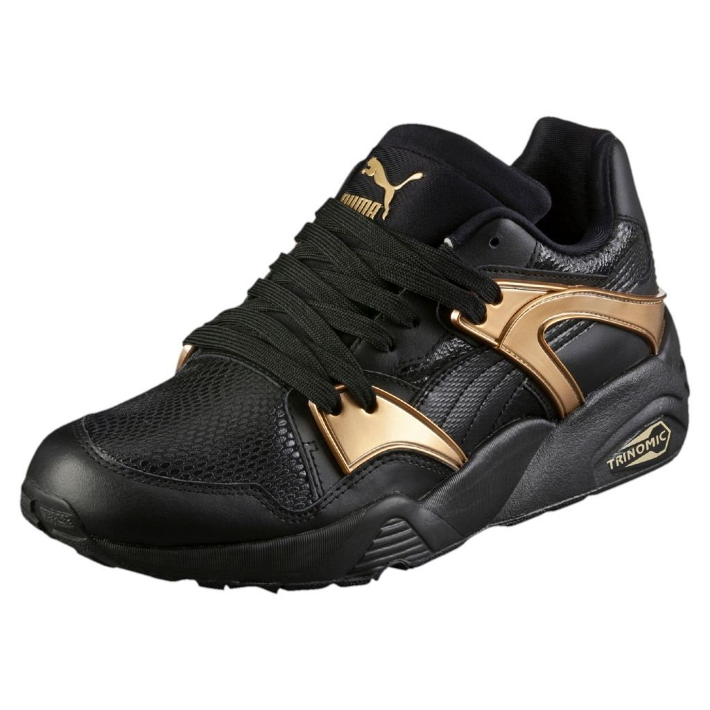 PUMA BLAZE GOLD Noir Sneakers Black Baskets Trinomic Femme 362022 01
