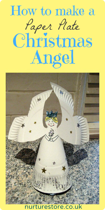How to make a paper plate angel | Angel, Template and Crafts