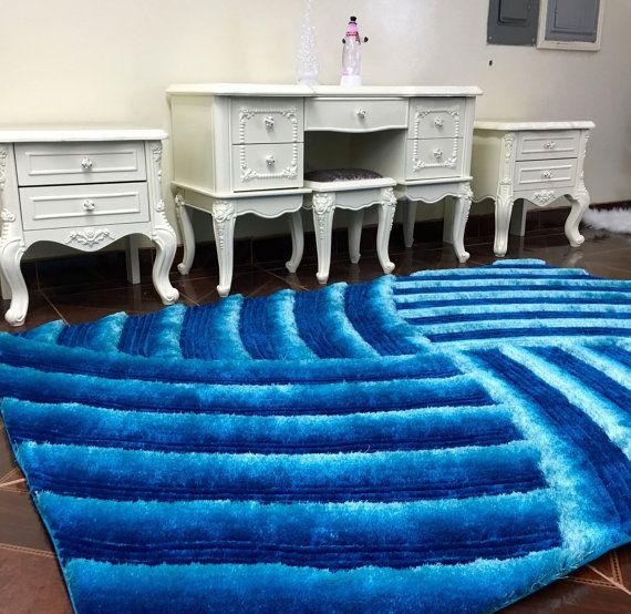 Handmade Shag Area Rug Luxury Carpet 3 by ArtsyHouseDecor on Etsy