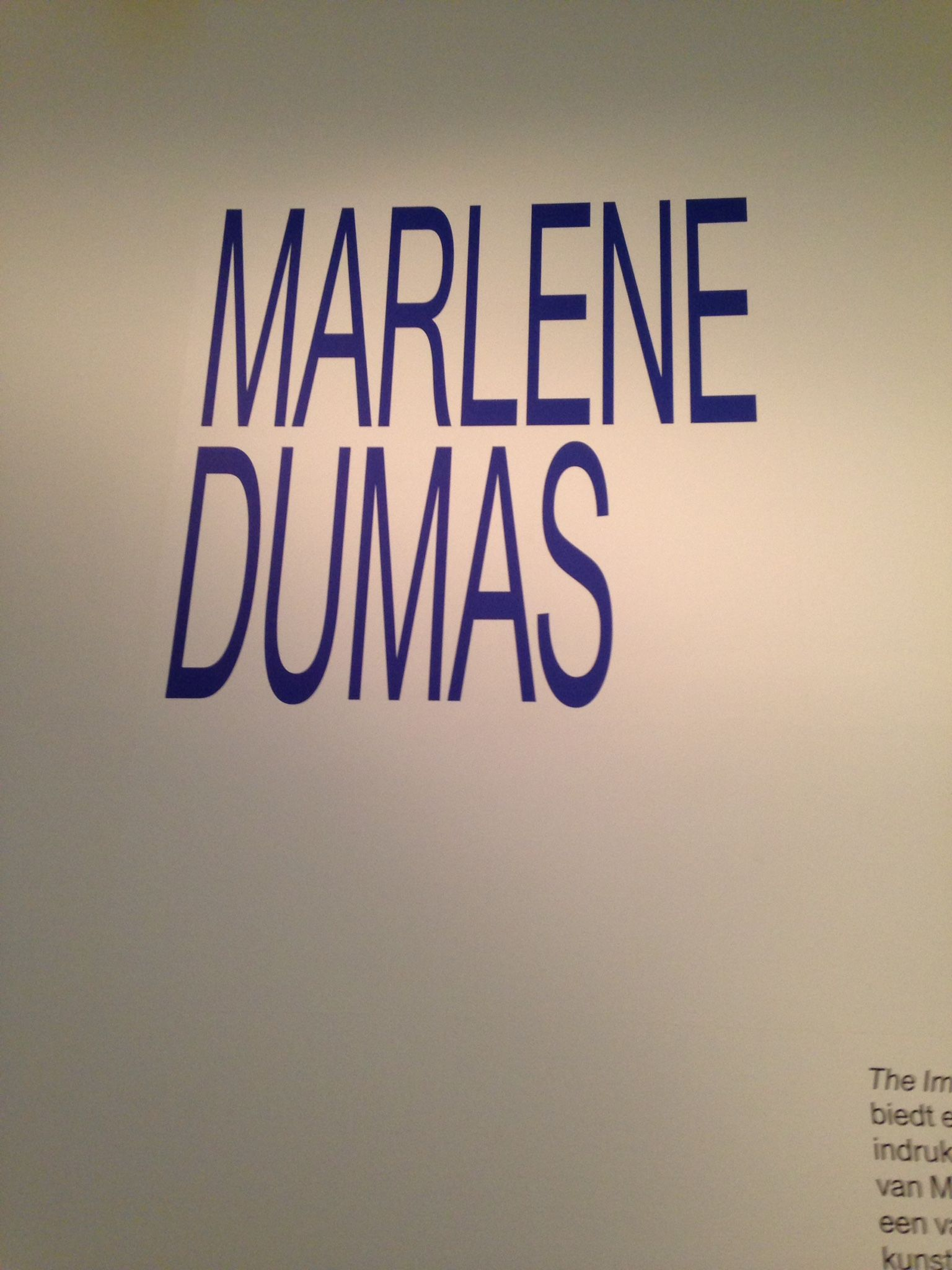 Marlene Dumas: The Image as Burden 6 sep 2014 - 4 jan 2015