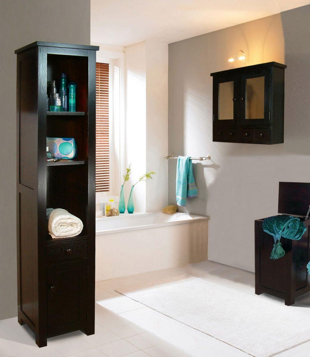 Bathroom Floor Standing Storage Cabinets Design Interior Home - Small floor standing bathroom cabinet for bathroom decor ideas